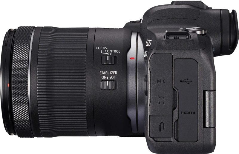 Canon R6 + 24-105 Lens side view