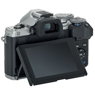 Olympus EM10 IV back with tilted screen