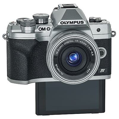 Olympus EM10 IV front with selfie screen
