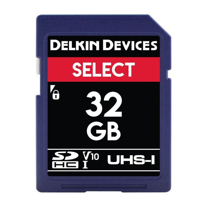 delkin select uhs i 660x v10 sd 32gb ddsdr16332gb 1