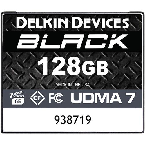 delkin devices ddcfblk128gb 128gb black compactflash memory 1581378384 1544300
