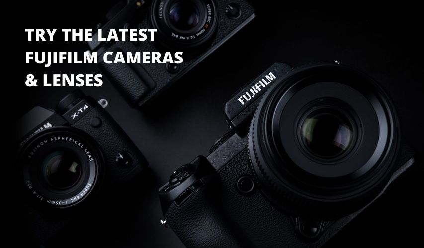 TRY THE LATEST CAMERAS LENSES