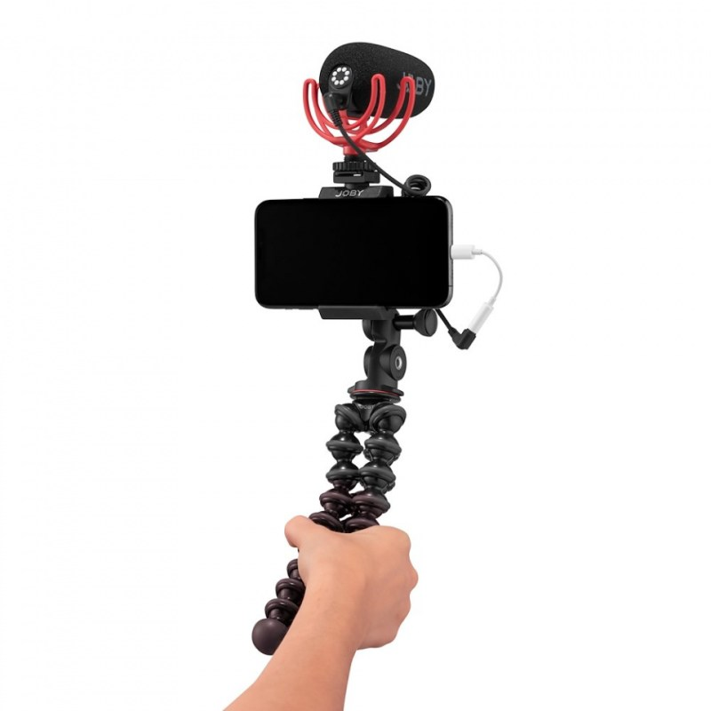 audio kits joby gorillapod mobile audio kit pb202000057 phone hand mic front