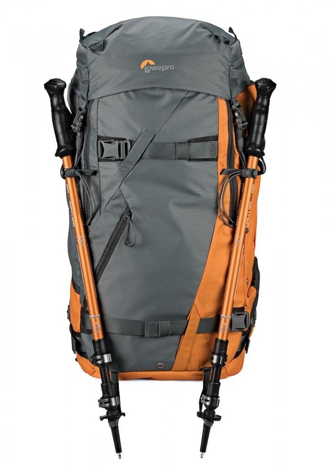 camera backpack powder bp 500 aw lp37230 front walking poles