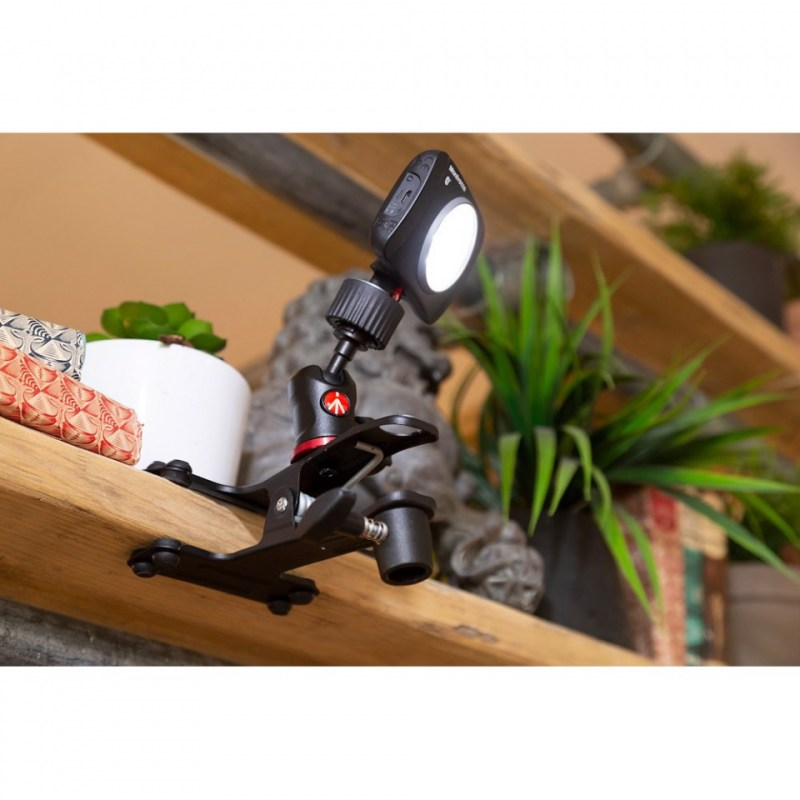 lighting clamps and arms manfrotto cold shoe spring clamp 175f 2 in action 01