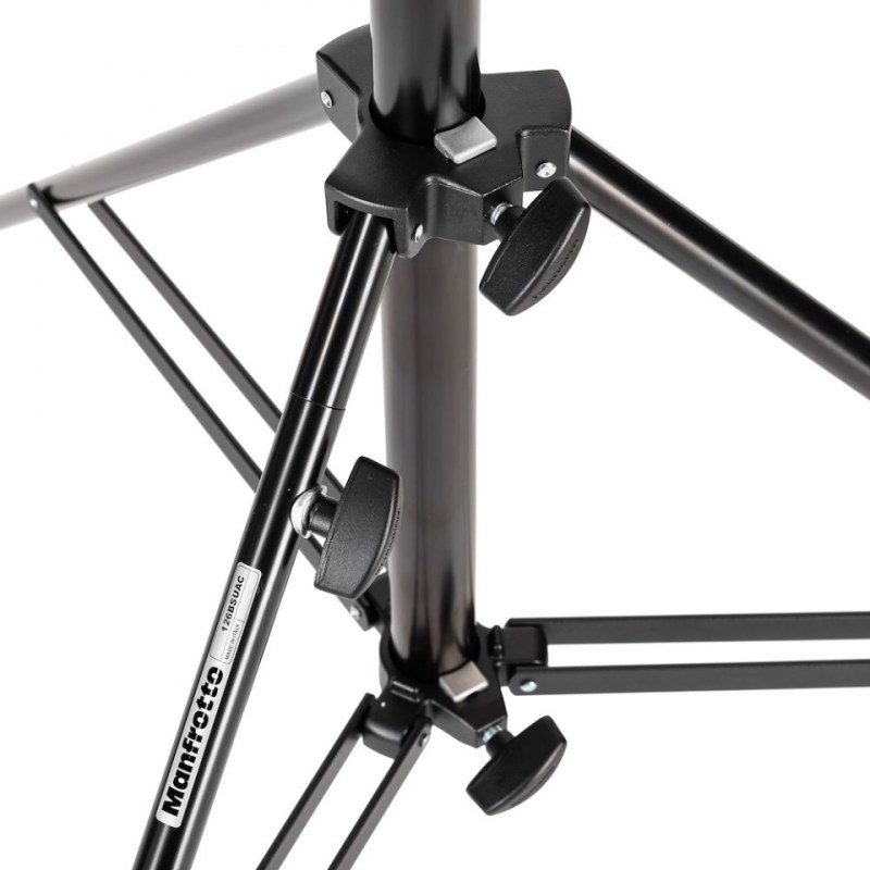 manfrotto heavy duty stand air cushioned black steel 126bsuac 3