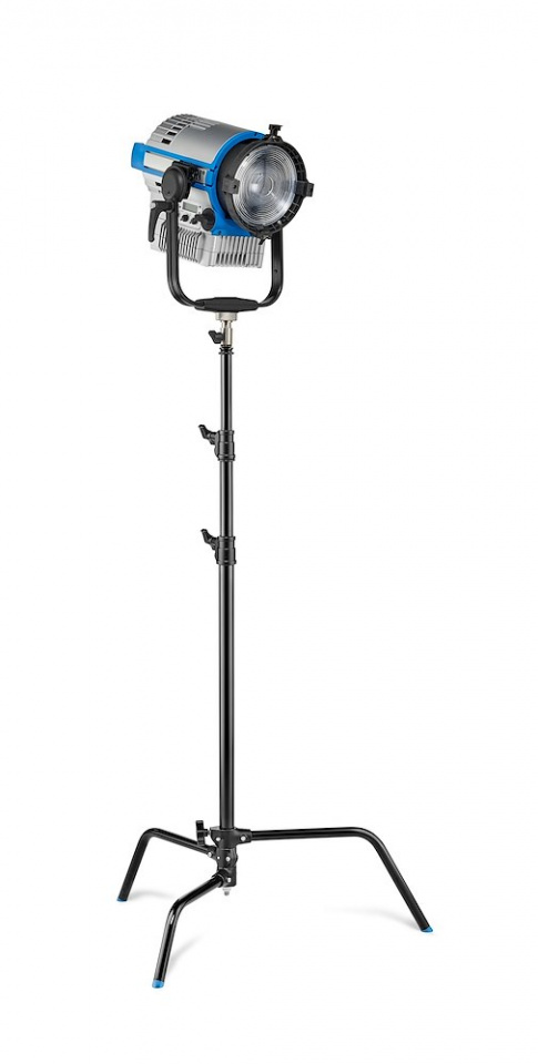 c stands c stand 25 with sliding leg in black finish version a2025lcb w light