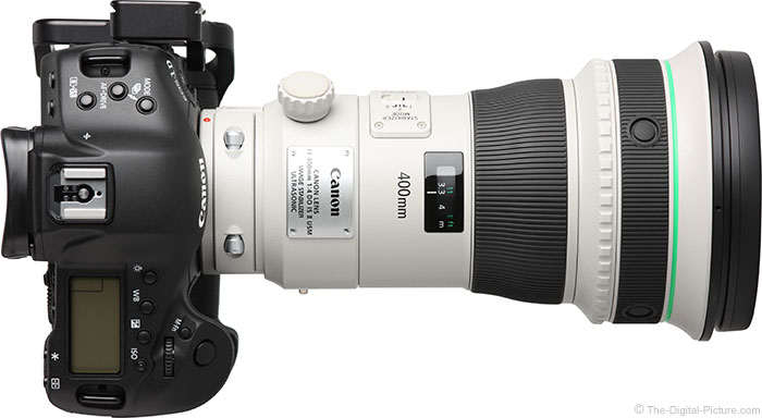 Canon EF 400mm DO IS II Lens Top View