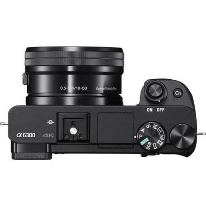 Sony A6300 Compact System Camera in Black + 16-50mm Lens