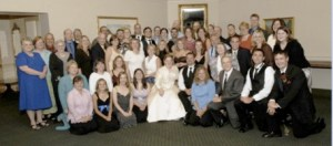 Wedding of Chad and Sarah Hershberger in 2007