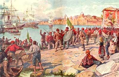 """Marsala, commemorazione del 70mo anniversario del bombardamento alleato e rievocazione """"sbarco dei Mille"""""""