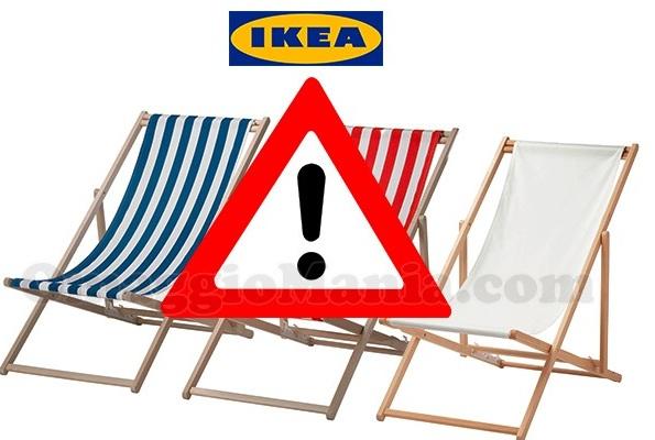 Ikea ritira dal mercato una sdraio campobello news for Lettino sdraio ikea