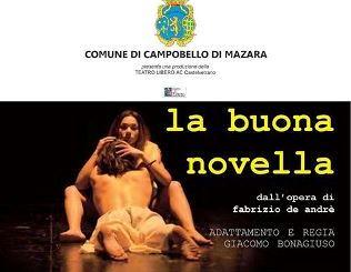 """[E…STATE CON NOI 2017]CAMPOBELLO. Il musical """"La buona novella"""" di De Andrè, in scena a Torretta Granitola"""