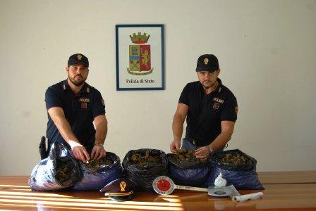 Marsala. La Polizia di Stato arresta ADAMO Luigi e CERVELLIONE Nicola per detenzione ai fini di spaccio di sostanza stupefacente.
