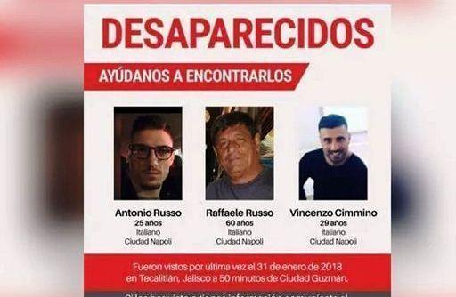 Messico, aperta inchiesta sulla scomparsa dei tre italiani