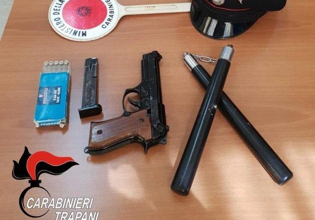 Trapani. Denunciati due fratelli trapanesi per reato di porto d'armi e minacce