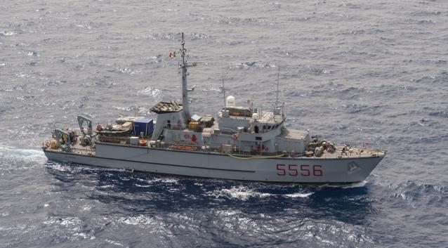Il cacciamine Alghero individua un ordigno bellico al largo di Trapani