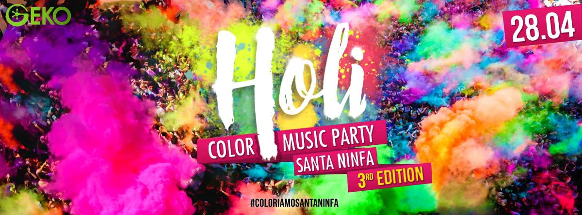 Santa Ninfa: Arriva la festa di primavera con l'«Holi color music party»