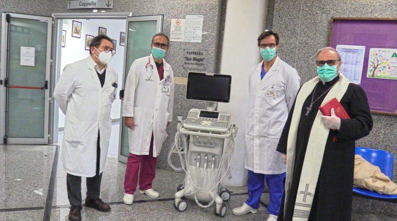[Coronavirus] Mazara. La Diocesi dona un ecografo all'Ospedale di Marsala