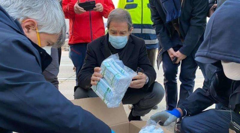 Arrivate all'alba di oggi 40 tonnellate di Dpi per gli ospedali siciliani