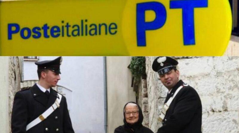 [Covid 19] Poste Italiane e Carabinieri insieme per consegnare la pensione agli anziani