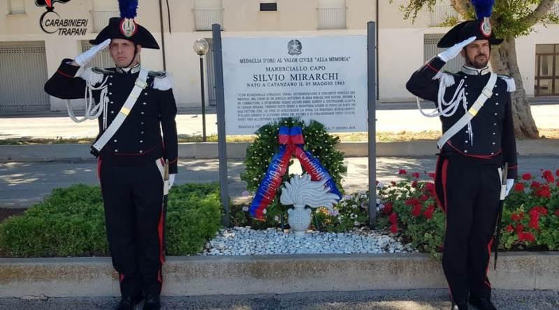 Marsala. Commemorazione del 4° anniversario dell'uccisione del Maresciallo Capo Silvio Mirarchi