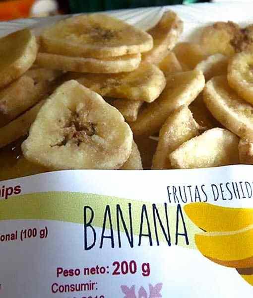 Chips de plátano en bandeja de 200 g