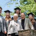 Campolo Scholar graduates wtih Tony, Peggy and Robert