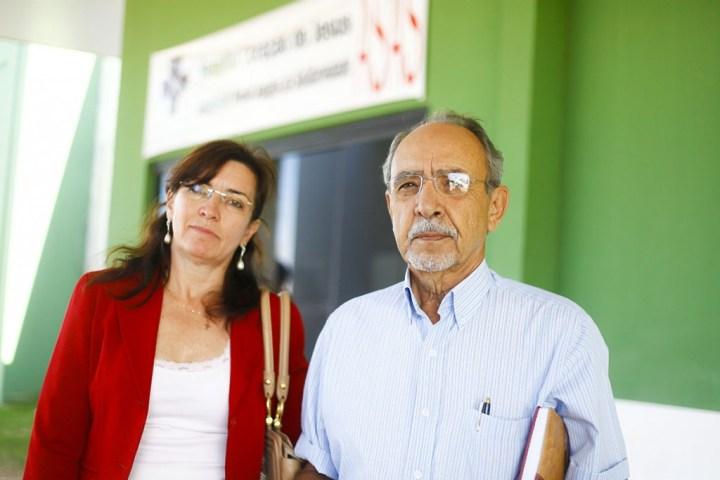 Maria Frazão Zunta e o tesoureiro da ASAS Glauco Washington