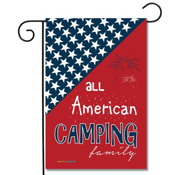 Camping Holiday Flag All American Camping Family