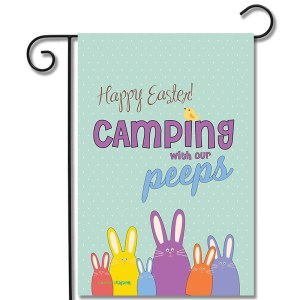 Camping Flag Happy Easter Camping With Our Peeps