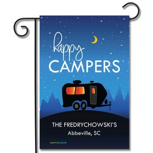 Personalized RV Camping Flag Happy Campers Travel Trailer