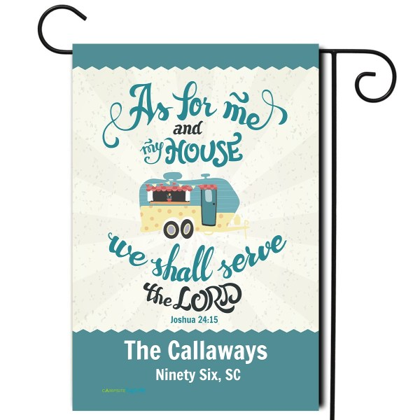 """Personalized RV Flag """"As for me and my house we will serve the Lord"""""""