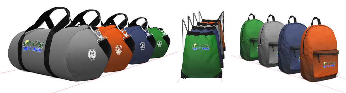 New custom bags available in the Camp St. Andrews merchandise shop!