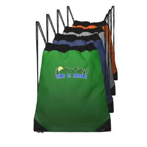 Camp St. Andrews custom drawstring bags