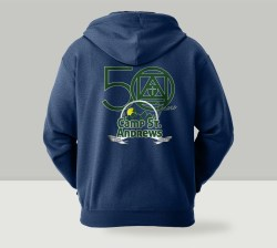 Camp St. Andrews 2020 50th Anniversary Zipper Hoodie Back