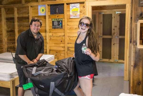 Camp Takajo camper bags delivered