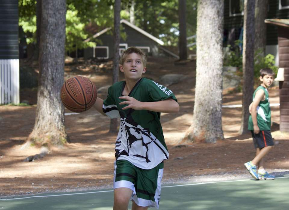 Basketball at Camp Takajo for Boys in Naples, Maine