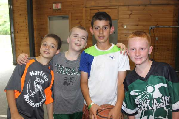 Camp Takajo Warrior campers basketball 2018