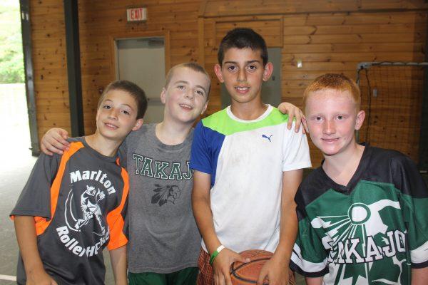 Camp Takajo Warrior campers basketball 2018