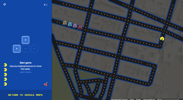 PacMan on ??? street. Choose your map wisely, otherwise you will have a hell of a time controlling!