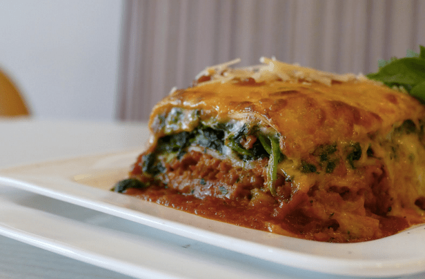 Lasagne with Spinach & Soya Mince $15.00