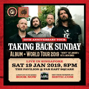 Taking Back Sunday - Live in Singapore @ The Pavilion @ Far East Square