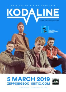 Kodaline - Live in Singapore @ ZEPP@BIGBOX Singapore