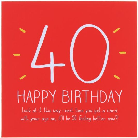 Happy Jackson 40th Happy Birthday Card Campus Gifts