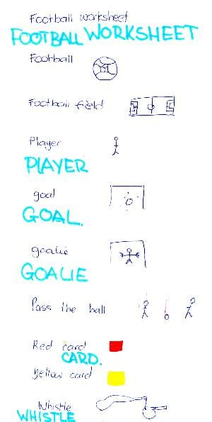 football-worksheet