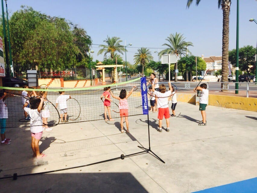 deportes en el patio