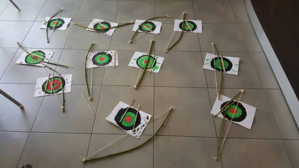 taller de arcos con flechas de campus ingles