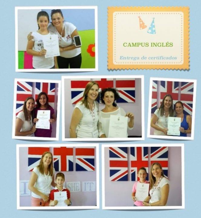 Entrega de certificados oficiales de Trinity College London en Campus Ingles