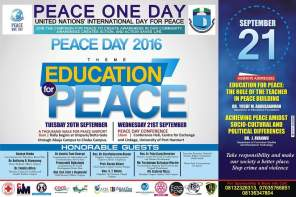 A THOUSAND WALK FOR PEACE UNIPORT 2016
